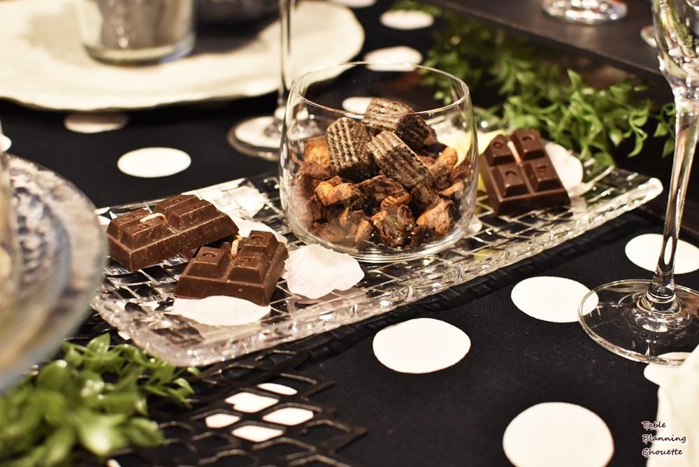 バレンタインチョコレートの盛りつけ例