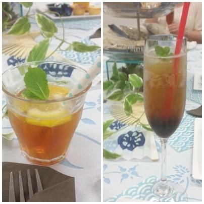 紅茶のアレンジティーとアレンジコーヒー