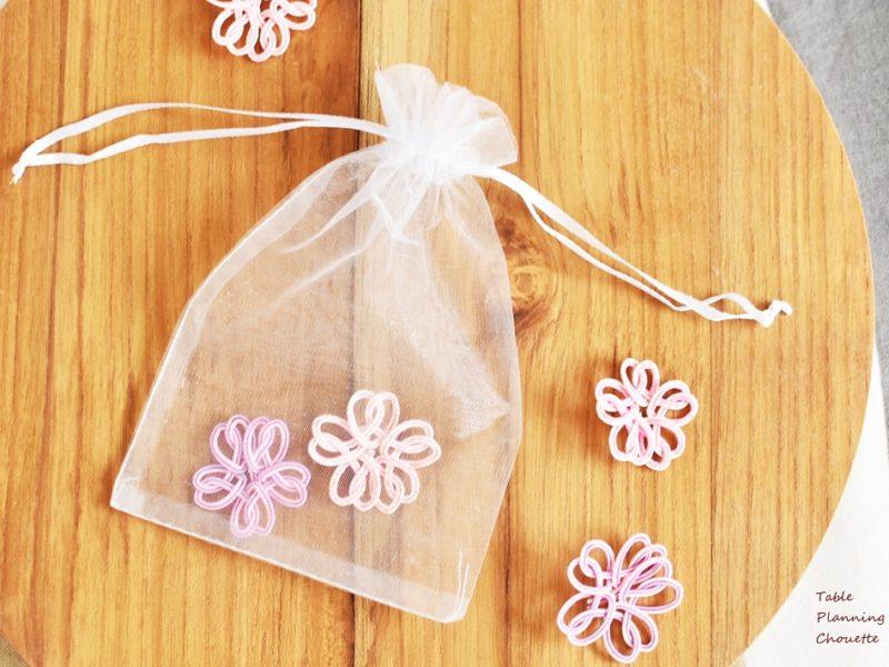 水引WSでは桜を作って香りと一緒に楽しみます@3/28蕨マルシェ